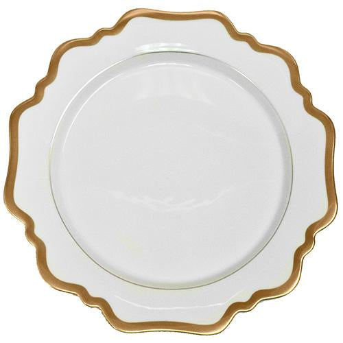 Antigue White with Gold Dinner Plate