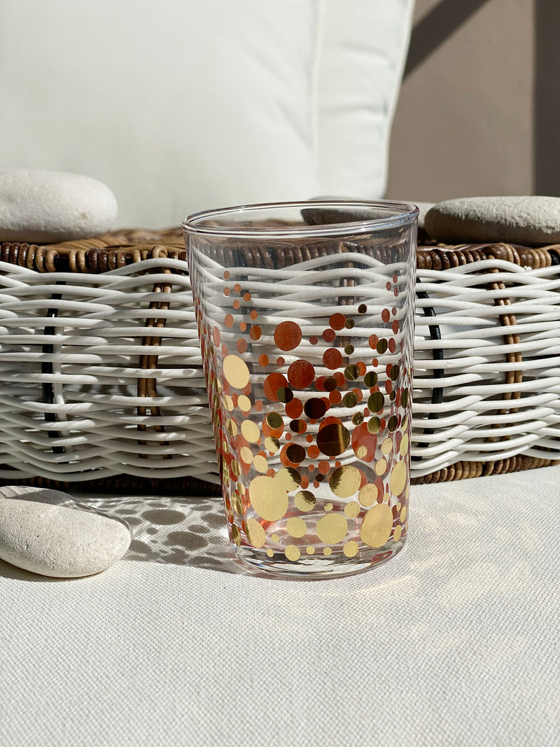 Tea Glasses Gold Bubbles - (Set of 6)