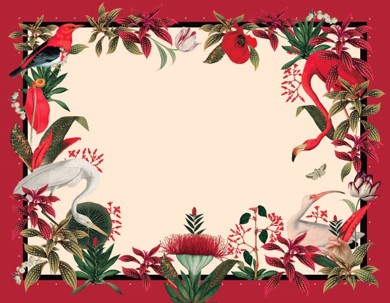Red Jungle Placemat