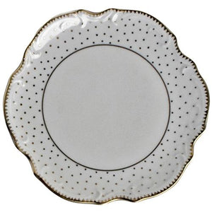 Simply Anna - Polka Gold Bread and Butter Plate