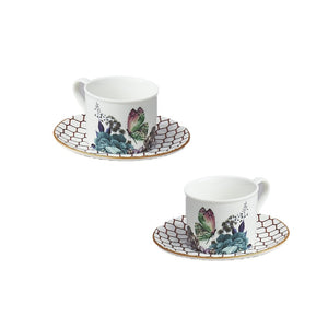 Coffee Cup with Saucer (Set of 2) - Symphony