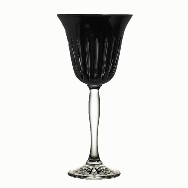 Water Goblet Stripes Black