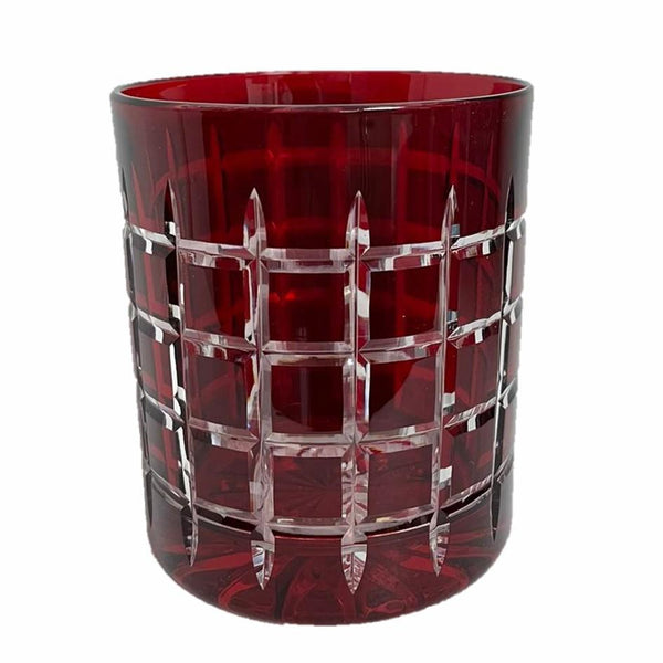 Whiskey Glass Checkered Red (Set of 6)