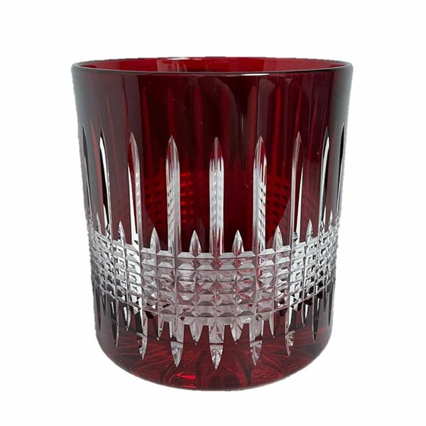 Whiskey Glass Diamond Red