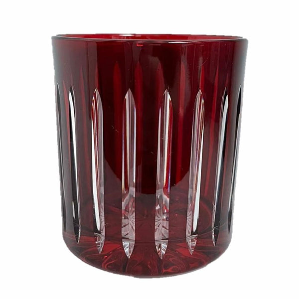 Whiskey Glass Stripes Red (Set of 6)