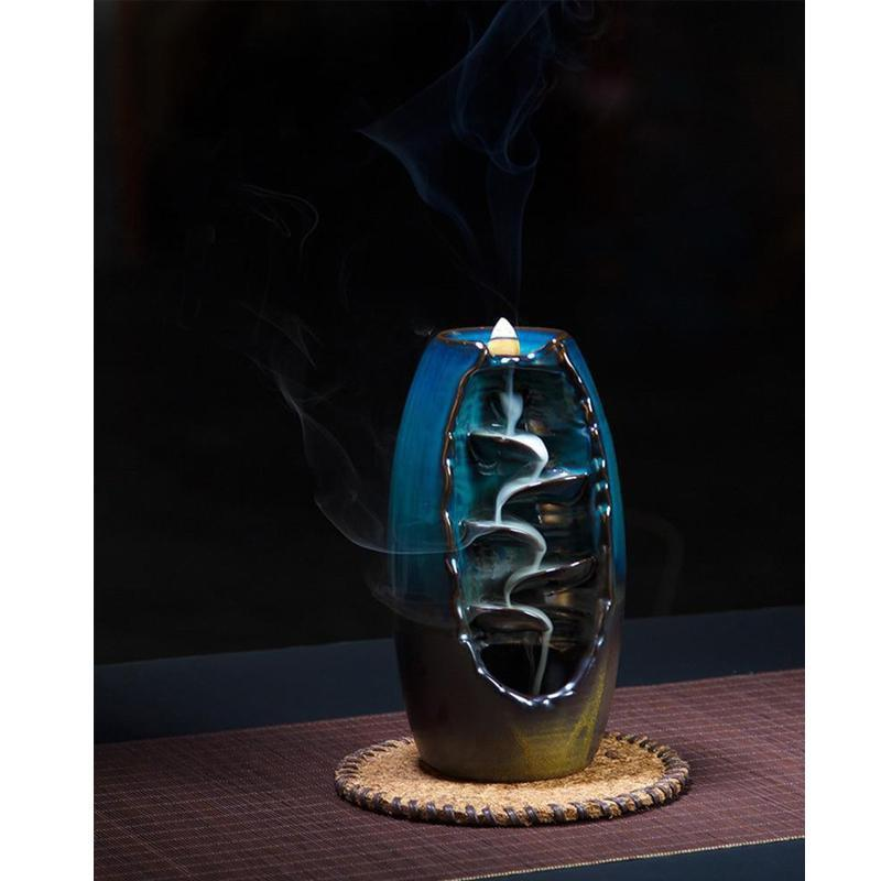WATERFALL BACKFLOW INCENSE BURNER - AROMATHERAPY - ZEN ORNAMENT