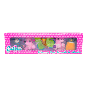 Cuties 5-Pack: Giraffe, Poodle, Butterfly, Unicorn, and Robin - 12 in a case
