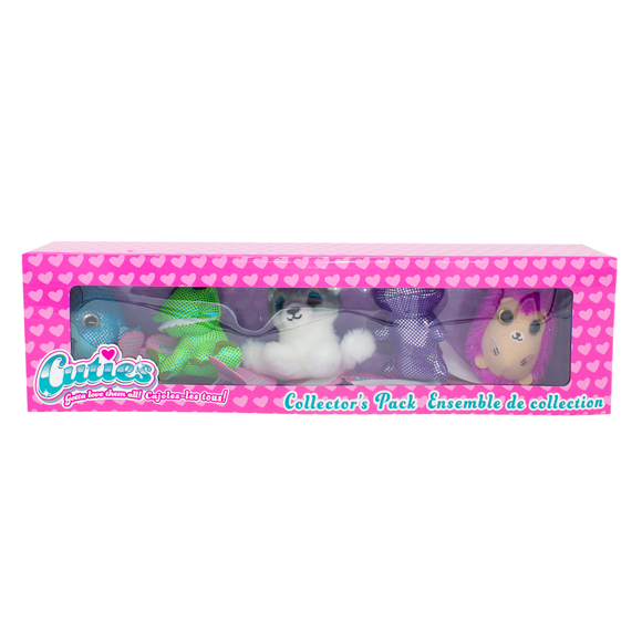 Cuties 5-Pack: Shark, Alligator, Husky, Hippo, Hedgehog - 12 in a case