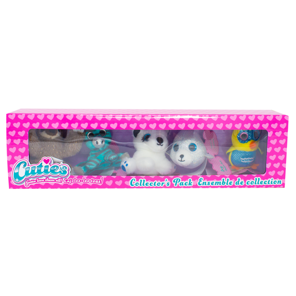 Cuties 5-Pack: Sloth, Zebra, Maltese, Harper Seal, and Owl - 12 in a case