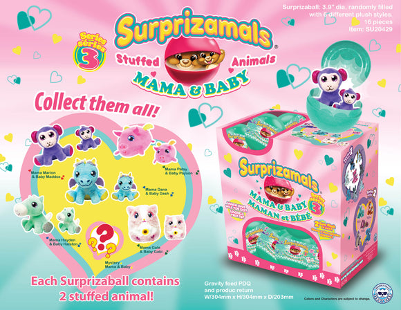 Surprizamals Mama & Baby-Series 3 - 16 Units Per Case