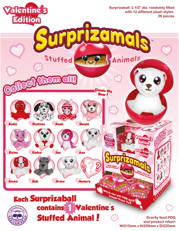 Surprizamals Valentine-Series 2 - 36 Units Per Case