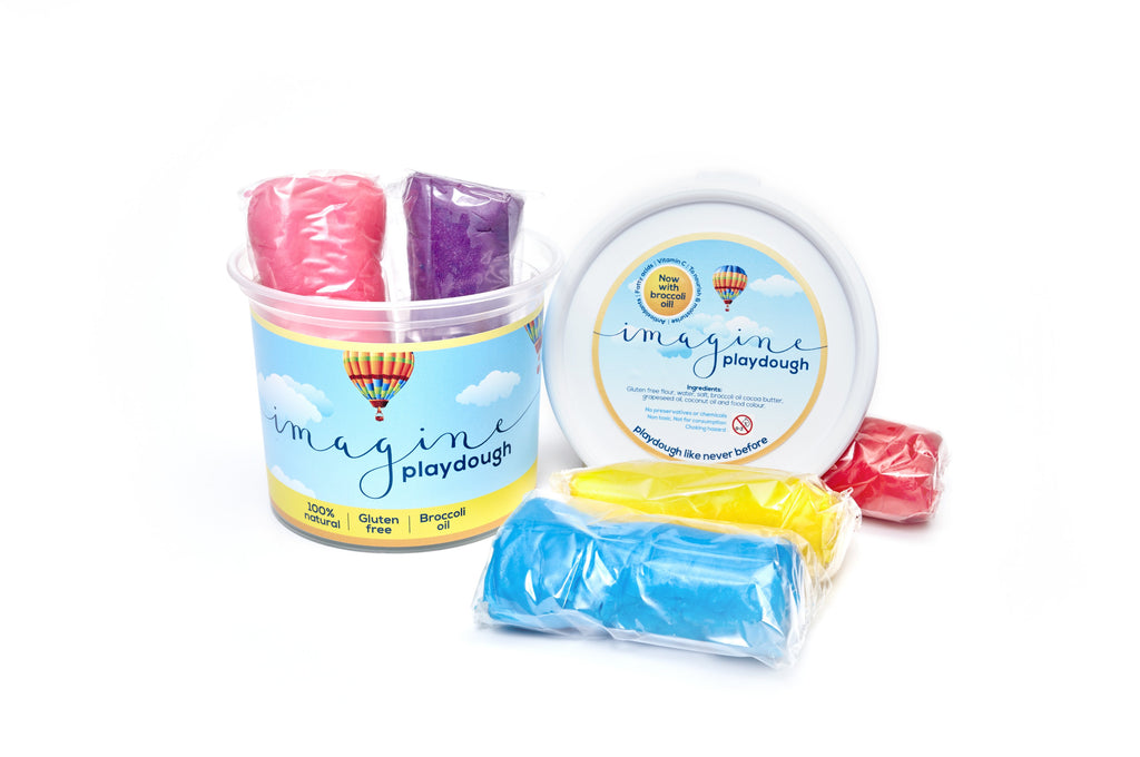 Imagine Playdough Mixed 500g Bucket (5 colours) - Lilly and Bee