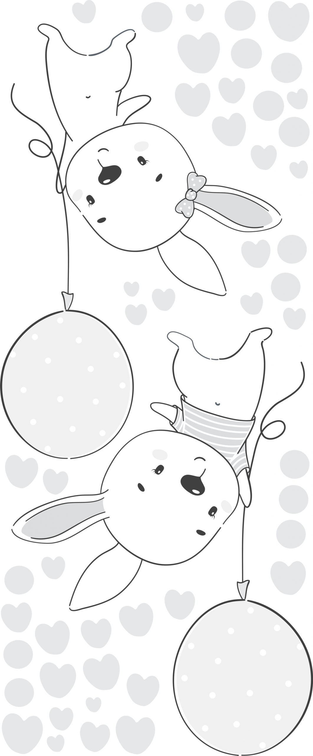 Balloons and Bunnies - Lilly and Bee