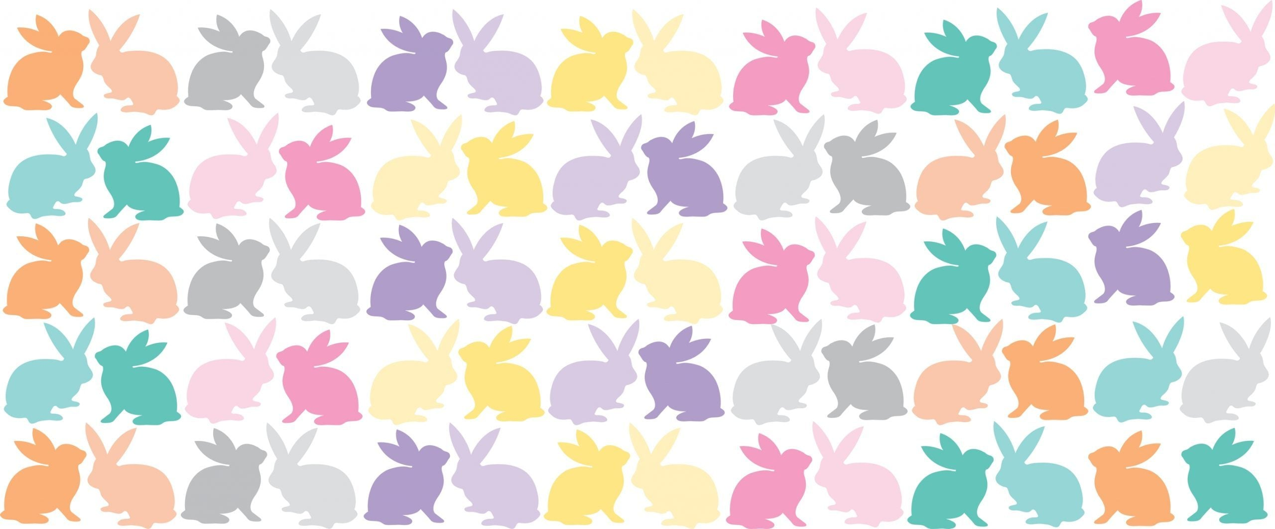 Colourful Bunny Pattern - Lilly and Bee