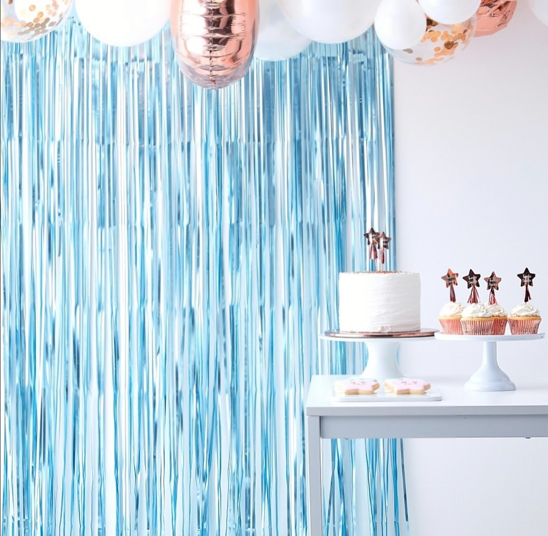 Twinkle Twinkle - Matte Blue Curtain Backdrop - Lilly and Bee