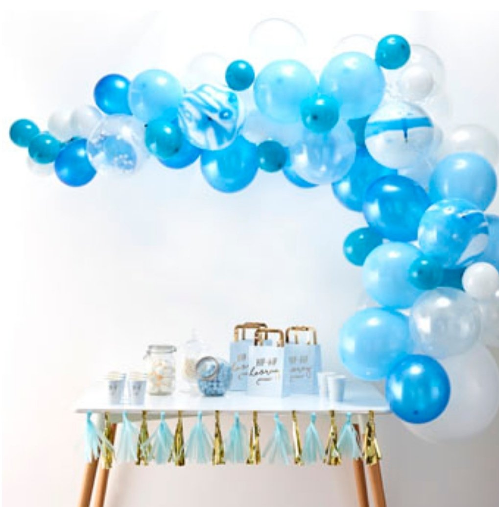 Balloon Arches - Blue Balloon Arch Kit - Lilly and Bee