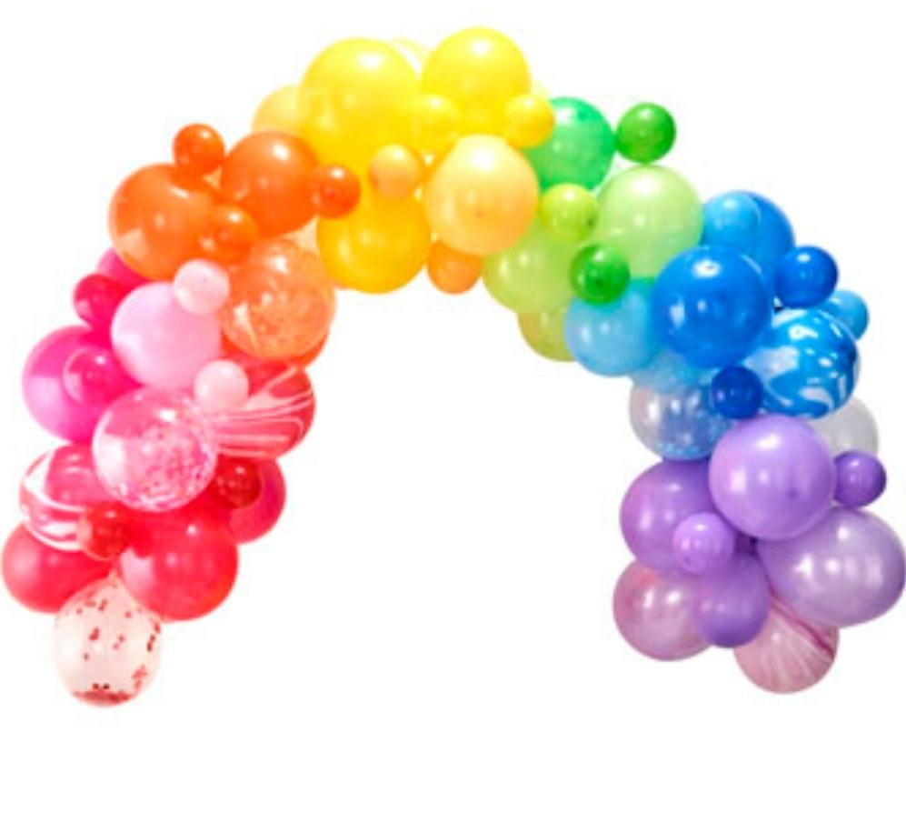 Balloon Arches - Rainbow Balloon Arch Kit - Lilly and Bee