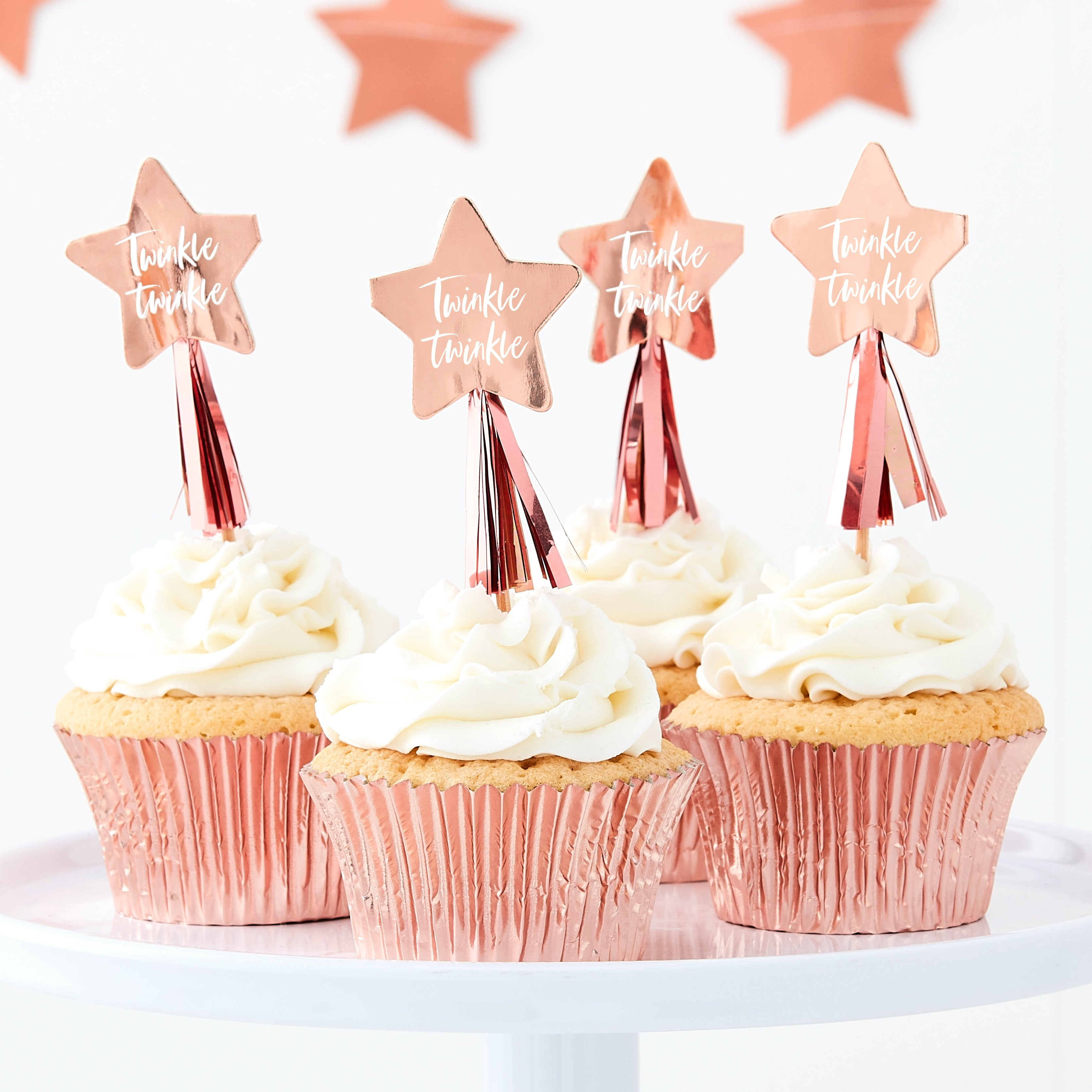 Twinkle Twinkle - Twinkle Twinkle Star Cupcake Toppers - Lilly and Bee