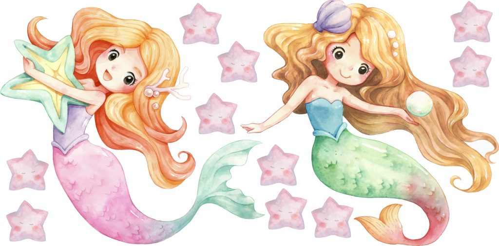 Watercolour Mermaids