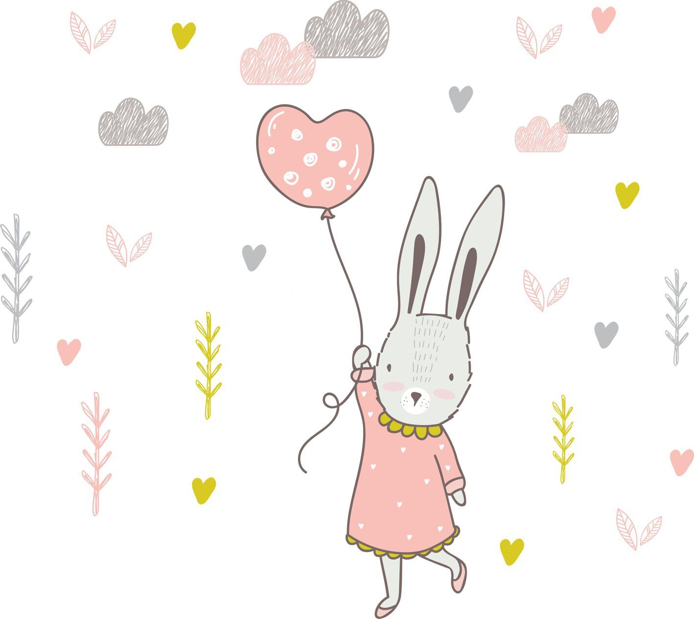 Bunny and Balloon - Lilly and Bee