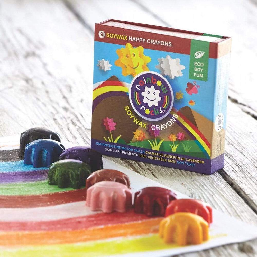 RAINBOW ROCKS SOY CRAYONS FOR SMALL KIDS - Lilly and Bee