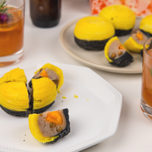 Load image into Gallery viewer, Baked Yam Mooncakes with Salted Egg & Pistachio Nuts