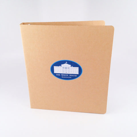 custom recycled binder for the white house executive office