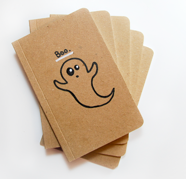 halloween recycled notebook