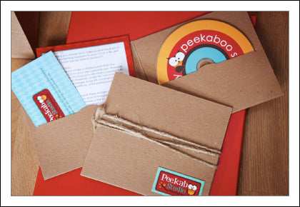 peekaboo custom cd sleeves