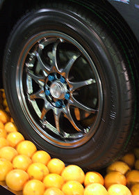 tires made from oranges