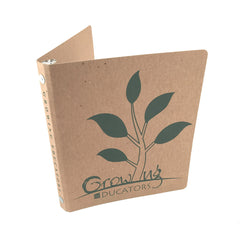 "Custom Printed 1/2"" ReBinder Select Recycled Binders - Natural Brown Kraft"