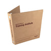 "Custom Printed 1"" ReBinder Original Recycled Binders - Natural Brown Kraft"