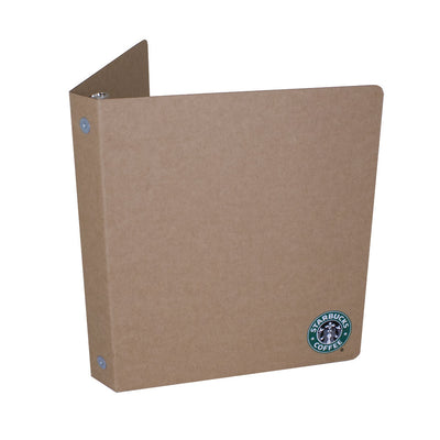 "Custom Printed 1"" ReBinder Original Recycled Binders - Starbucks"