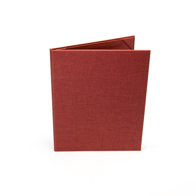 Six Pocket Menu Cover (Book Style) - Red, Show your Flair