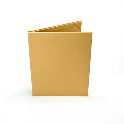 Six Pocket Menu Cover (Book Style) - Spill and Stain Resistant, Gold