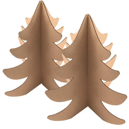 "18"" Recycled Brown Cardboard Trees - (2 pack) - Guided  - 1"