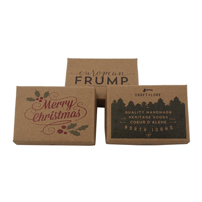 Custom Printed Two Piece Gift Boxes - Brown Kraft Gift Boxes