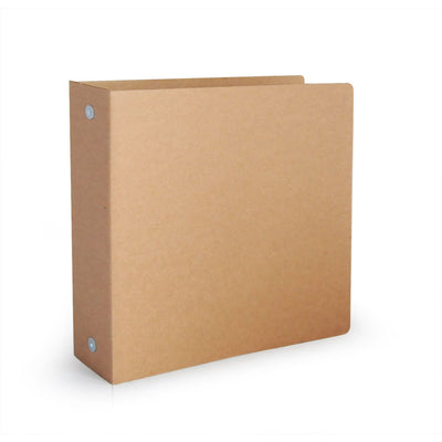 "2"" ReBinder Original Recycled Binders - Recyclable Brown Kraft"