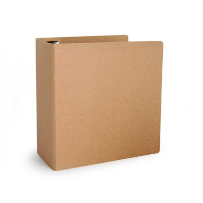 "3"" ReBinder Select Recycled Binders - Natural Brown Kraft"