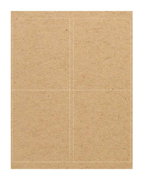 Brown Kraft Labels (4