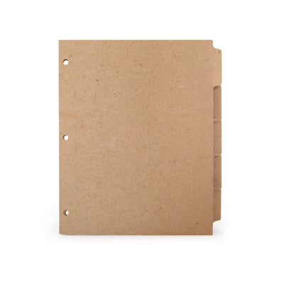 ReTab 5-Tab Binder Dividers (10 sets) - Three hole punched