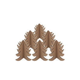 "6"" Recycled Brown Cardboard Trees - (6 pack) - Guided  - 1"