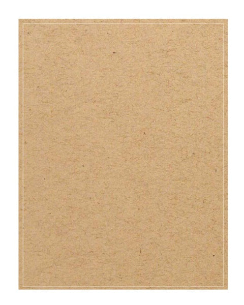"Full Sheet Adhesive Labels - Brown Kraft 8.5"" x 11"""