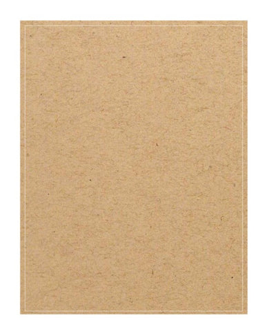 Full Sheet Adhesive Labels - Brown Kraft