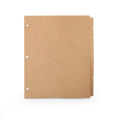 Custom Printed Binder Dividers - ReTab 8-Tab - 100% Recycled