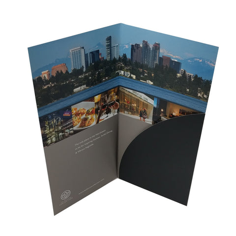 Custom Printed Glossy Single Pocket Brochure Folders