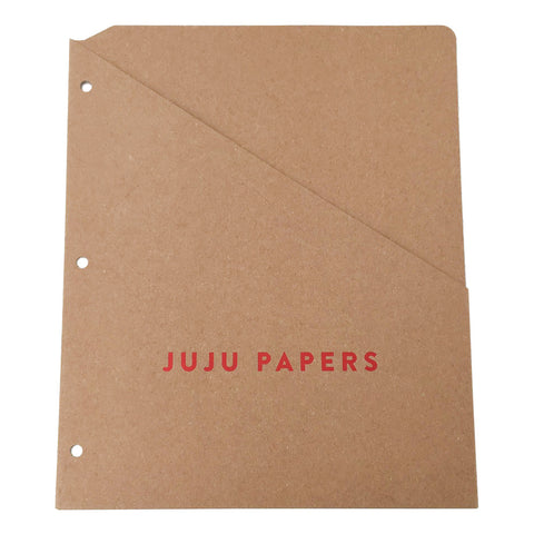 Foil Stamped Recycled Binder Pocket - Single Pocket