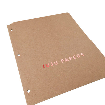 Foil Stamped Binder Pockets - RePouch - Punched 3-ring Binder Holes