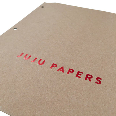 Foil Stamped Binder Pockets - RePouch - Red Foil for JuJu Papers