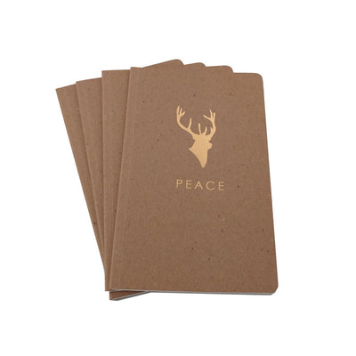Guided Brown Recycled Foil Stamped Notebooks